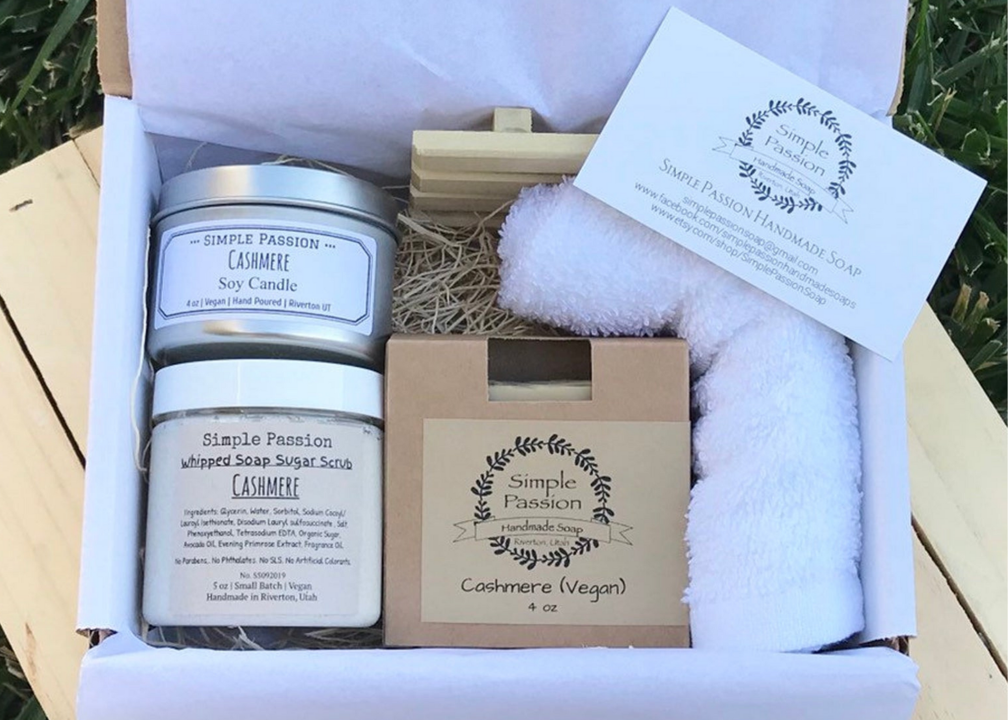 Cashmere Spa Kit by SimplePassionSoaps on Etsy
